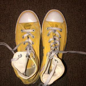 Yellow Hightop Converse